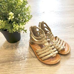 CHEROKEE Gold Gladiator Sandal Toddler Size 7